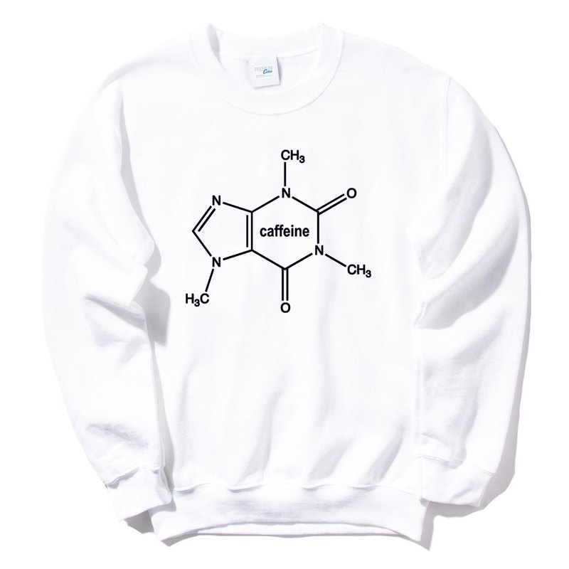 Caffeine Molecule Unisex Neutral [Spot] University T bristles 2-color caffeine Wenqing art design trendy text fashion