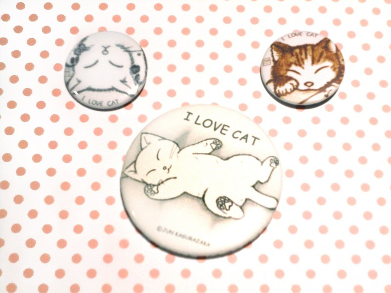 Badge ~ sleeping cat badge group