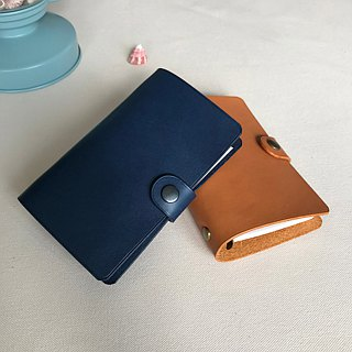 MARS Universal Manual Six-hole loose-leaf leather hand A7 notes / Maple Leaf Brown / Custom lettering