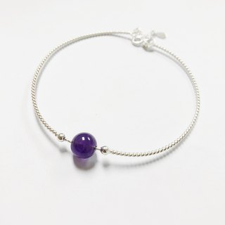 Blessing  Personalized  amethyst Bracelet Bangle Silver