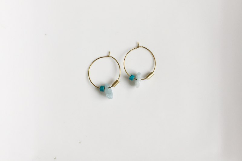 Summer Leaf Brass Shape Earrings