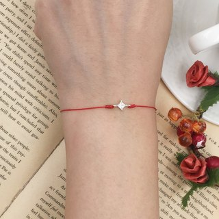 925 sterling silver diamond drill eight sides exquisite red line bracelet bracelet rope single drill temperament noble loose diamond