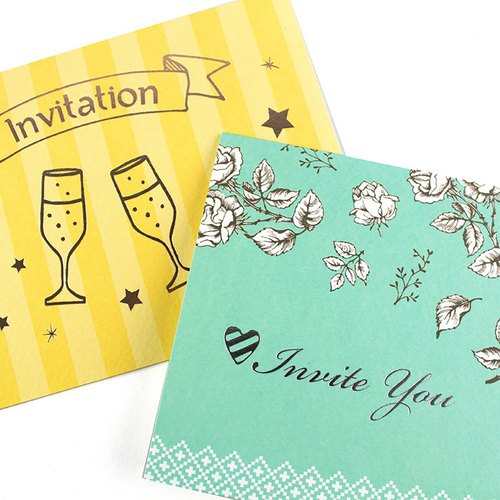 Invitation card / sincere greeting card / feast invitation / creative taste card (01-04)