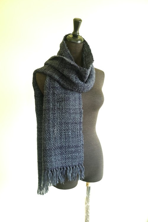 自家手織羊駝毛圍巾 My own Handwoven Alpaca Scarf
