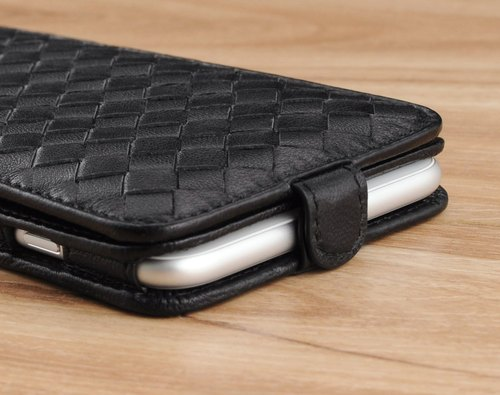 STORYLEATHER made (SAMSUNG series) Style D4 PDA-style bottom braided custom leather case