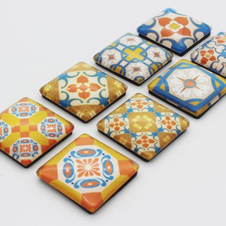 Taiwan tile magnet group - autumn autumn good