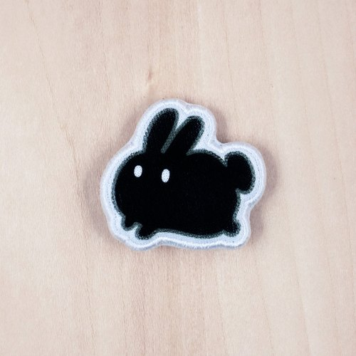 Rice fried rice cake Choco cloth rabbit brooch / badge (BH001E)