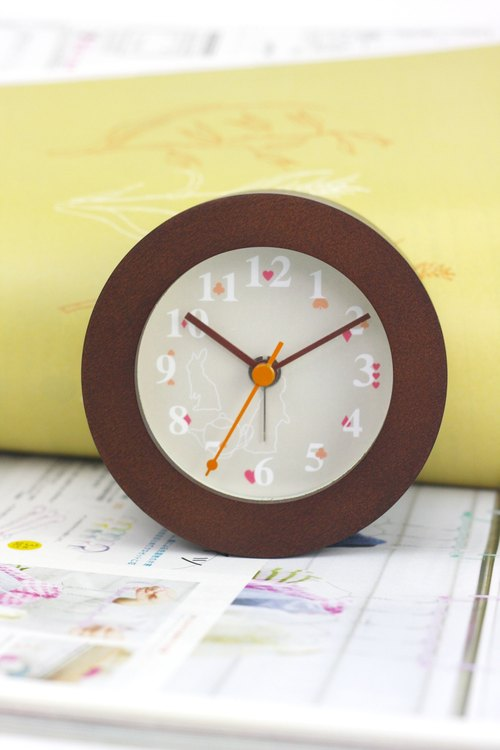 To Alice wooden frame clock (coffee box)