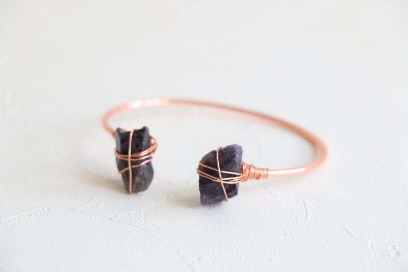Raw amethyst bracelet - gold plated / silver plated / rose gold plated