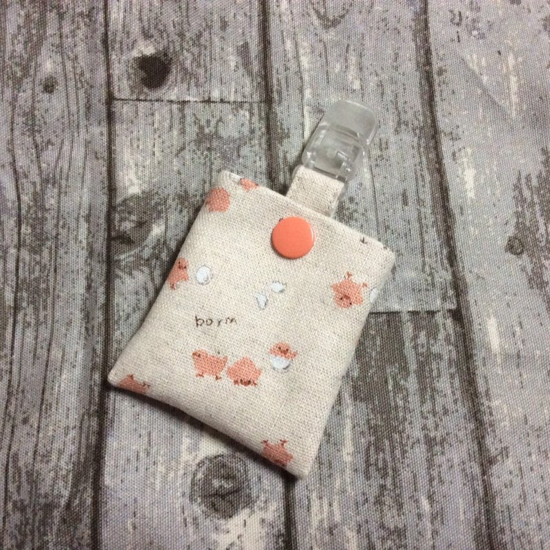 Safe bag | key ring | cotton and linen chickens
