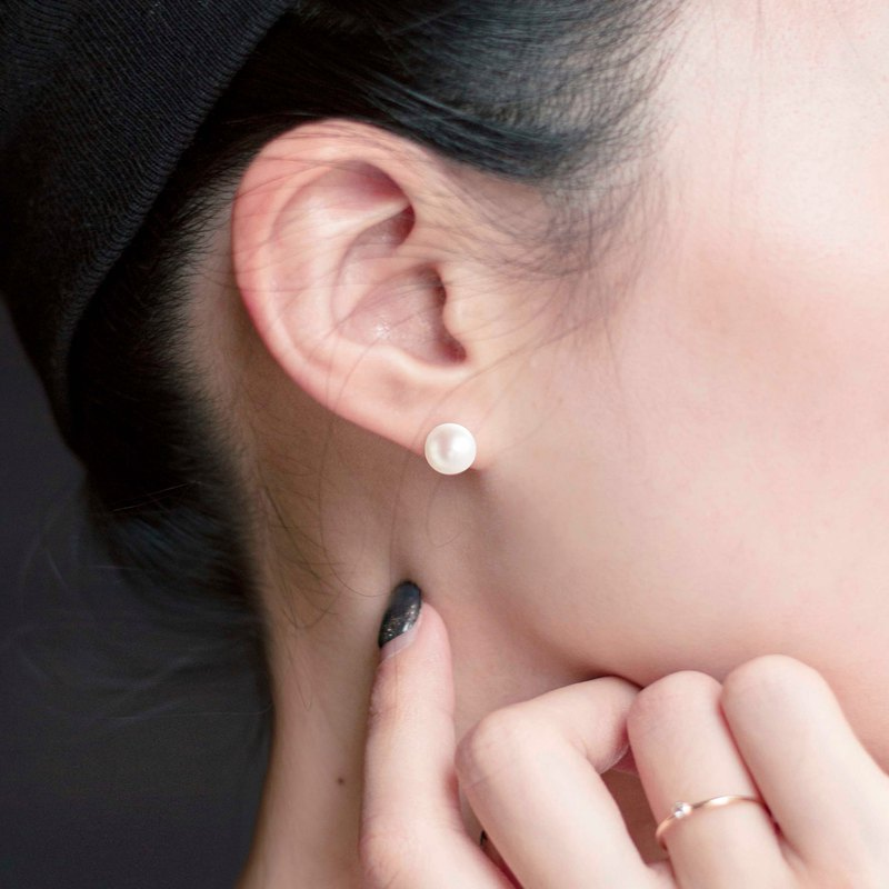 Classic Natural Pearl Earrings 7mm Pure Pearl Stud