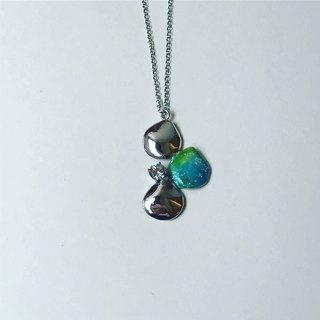 Sterling silver Enamel necklace