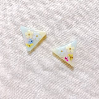 Little and Fruit Series - Petal Rainbow Cookies Handmade Sequins Dry Flower Stick Ear Ear/Ear clip