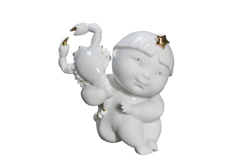 1300│12 Constellation porcelain doll series - Scorpio _ _ fine porcelain decorations