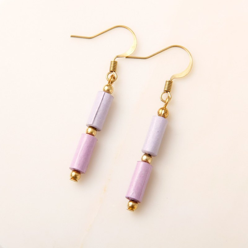 MUSEV Purple Small Cylindrical Earrings