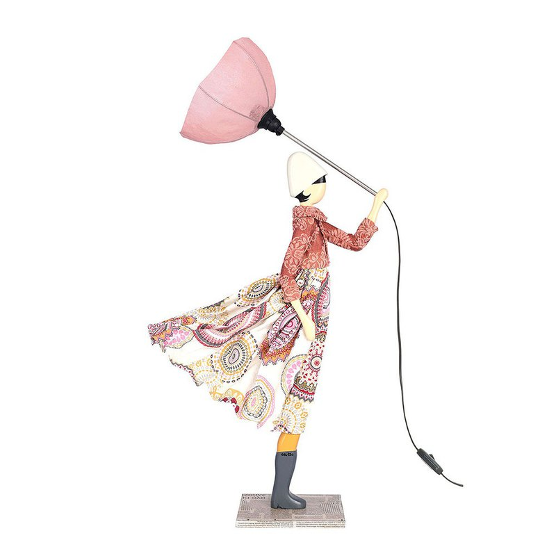 Wind Little Girl Fashionable Lamp Erato Made to Order Handmade