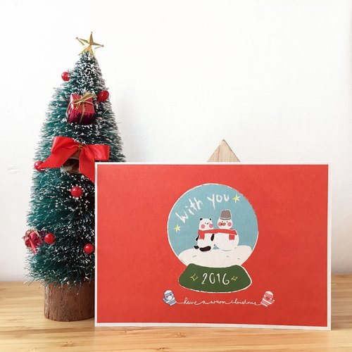 [2016 Christmas Limited] sweet red Christmas Card Have a warm Christmas!