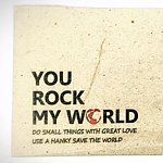 香港設計師品牌 - You Rock My World Hanky